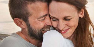 man happy with woman